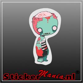 Zombie 3 Full Colour sticker