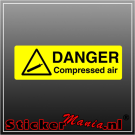 Danger compressed air full colour sticker