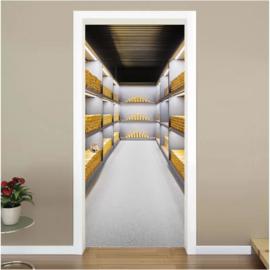 Goud kluis deur sticker