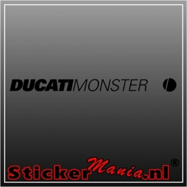 Ducati monster sticker