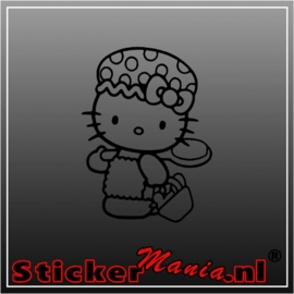 Hello kitty shower sticker
