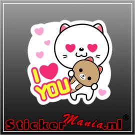 I love you full colour sticker