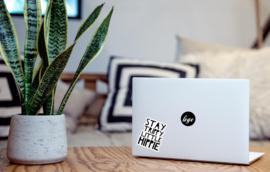Stay trippy little hippie laptop sticker