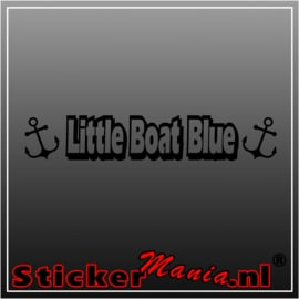 Little boat blue sticker
