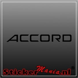 Honda accord sticker