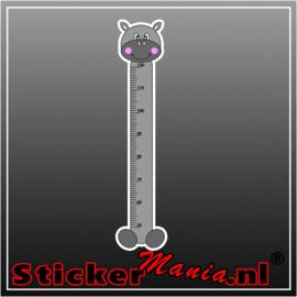 Groeimeter nijlpaard sticker