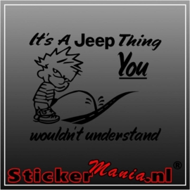 Calvin its a jeep thing sticker