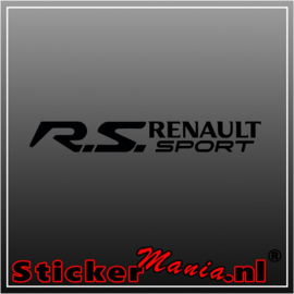 Renault RS sport sticker