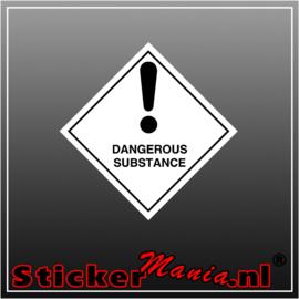 Dangerous substance full colour sticker