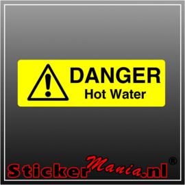 Danger hot water full colour sticker