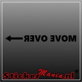 Move over spiegelbeeld raamstreamer sticker