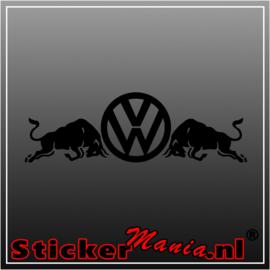 Volkswagen bulls sticker