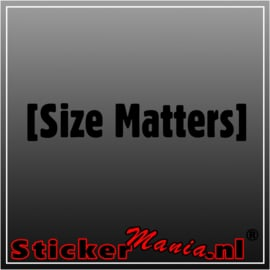 Size matters sticker