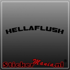 Hella flush 1 sticker