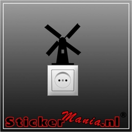 Molen stopcontact sticker