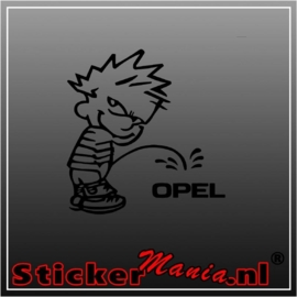 Calvin opel sticker