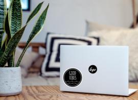 Good vibes laptop sticker
