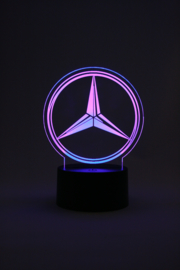 Mercedes logo led lamp