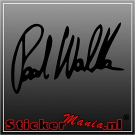 Paul walker handtekening sticker