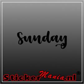 Sunday sticker