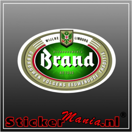 Brand bier full colour sticker