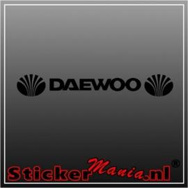 Daewoo raamstreamer sticker
