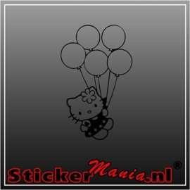 Hello kitty balloons sticker