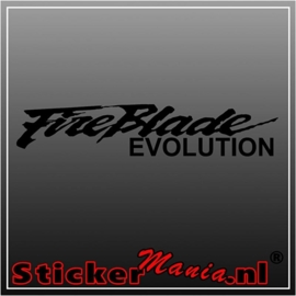 Honda fireblade evolution sticker
