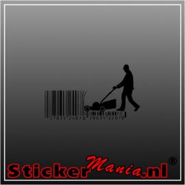 Grasmaaier code sticker