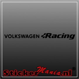 Volkswagen racing sticker