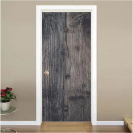 Donker hout deur stickerhg