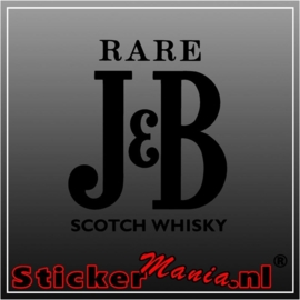 J&B whisky sticker