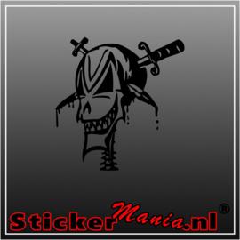 Skull 75 sticker