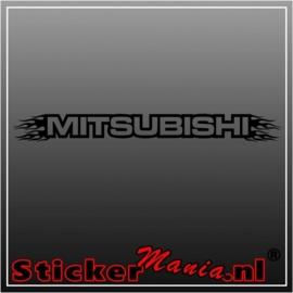 Mitsubishi flames 1 raamstreamer sticker