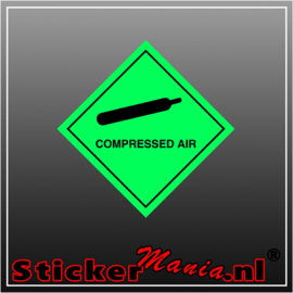 Compressed air full colour sticker