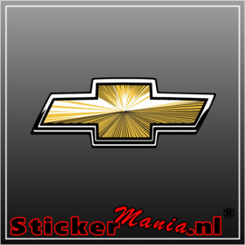 Chevrolet logo 2 full colour sticker