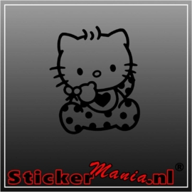 Hello kitty zittend sticker