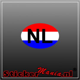 NL Rood Wit Blauw Full Colour sticker