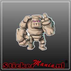 Golem clash of clans full colour sticker