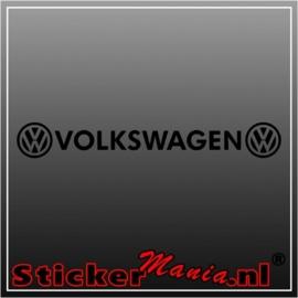 Volkswagen raamstreamer sticker