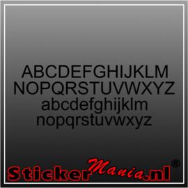 Eigen tekst lettertype Arial