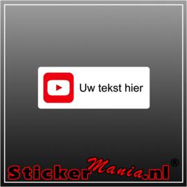 YouTube logo met eigen tekst