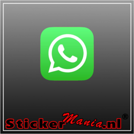 Whatsapp logo full colour sticker