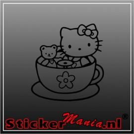 Hello kitty kopje sticker