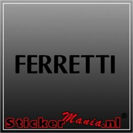 Ferretti sticker
