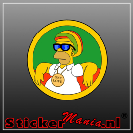 Homer simpson rasta full colour sticker
