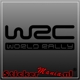 WRC world rally sticker