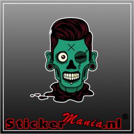 Zombie 1 Full Colour sticker
