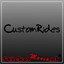 Custom rides raamstreamer sticker