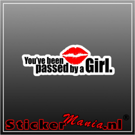 You've Been Passed By A Girl Full Colour sticker